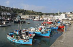 The small fishing port of mevagissey stock images