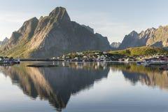 Small fishing port Reine, Lofoten Islands, Norway Stock Images