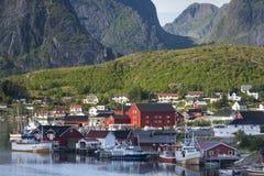 Small fishing port Reine, Lofoten Islands, Norway Royalty Free Stock Photos