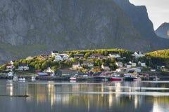 Small fishing port Reine, Lofoten Islands, Norway Royalty Free Stock Images