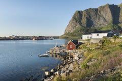 Small fishing port Reine, Lofoten Islands, Norway Stock Image