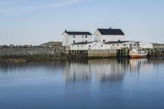 Small fishing station on Lofoten Islands, Royalty Free Stock Photos