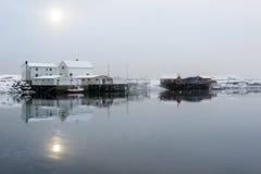 Small fishing station on Lofoten Islands, Norway royalty free stock photos