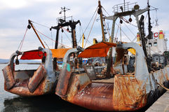 Small fishing vessels Royalty Free Stock Photos