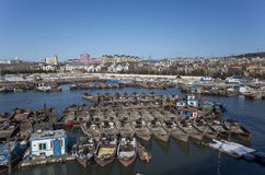 Small fishing village. Of Dalian city, Liaoning province, China Stock Photo