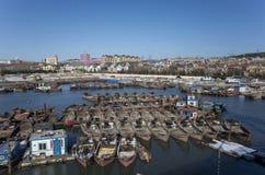 Small fishing village Stock Photo