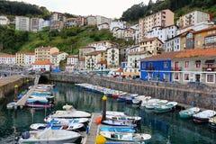 Small fishing village of elantxobe at basque country, Spain stock image