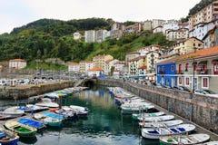 Small fishing village of elantxobe at basque country, Spain royalty free stock photos