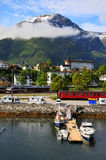 Small fishing village, fjord, Norway Royalty Free Stock Image