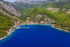 Small fishing village Trstenik in Croatia Stock Image
