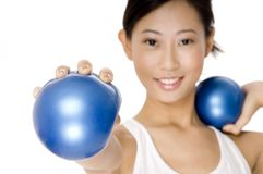 Small Fitness Ball Royalty Free Stock Photo