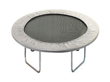 Small fitness trampolin stock photography
