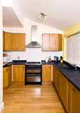 Small Fitted Kitchen Royalty Free Stock Images