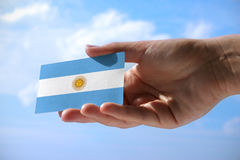 Small flag of Argentina Stock Image
