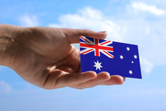 Small flag of Australia Royalty Free Stock Photography