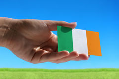 Small flag of Ireland Stock Photo