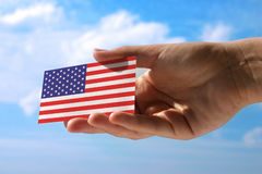 Small flag of USA Stock Photos