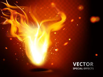 Small flame special effect Stock Photo