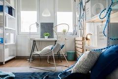 Small flat arrangement. Small studio flat arrangement with inventive decorations Stock Images