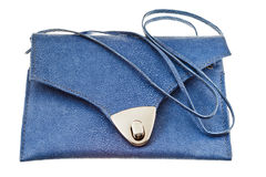 Small flat blue handbag Stock Image
