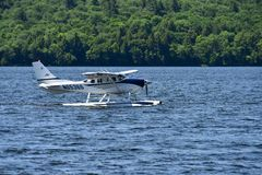 Small float plane on lake Royalty Free Stock Image