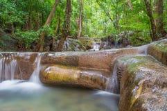 Small floor of Erawan waterfall. Kanchanaburi Thailand Royalty Free Stock Image
