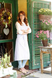 Small florist shop owner Royalty Free Stock Image