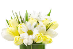 Small flower arrangement on white Stock Photos