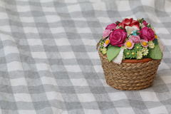 Small Flower Basket Miniature. Miniature, Small Flower Basket for decoration Stock Photography