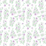 Small flower pattern. Vintage floral seamless background. Delicate blue green on white . Royalty Free Stock Image