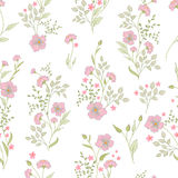 Small flower pattern. Vintage floral seamless background. Delicate blue green on white . Stock Photos
