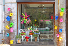 Small flower shop Stock Image