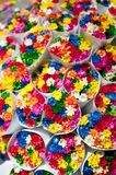 Small flowers bouquets. Royalty Free Stock Images