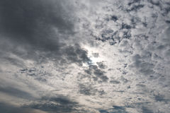 Small fluffy clouds across the sky Royalty Free Stock Image