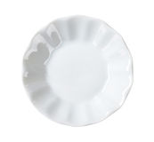 Small fluted white bowl Royalty Free Stock Images
