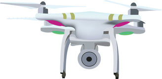 Small flying machine drone Royalty Free Stock Photos