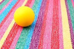 Small foam ball in play. Stock Photo