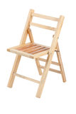 Small folding wooden chair Stock Photos