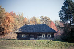 Small folk cottage in Pirogovo museum near Kiev Stock Image