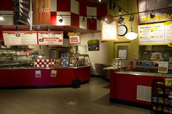 Small food court. A small food court in a business building in Seattle stock photos