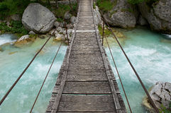 Small foot bridge Royalty Free Stock Photography