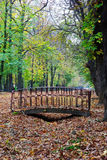 Small foot bridge in a park Stock Photography