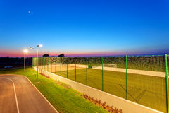 Small football pitch Royalty Free Stock Photos