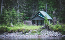 Small forest lodge Royalty Free Stock Photo