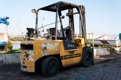 Small Forklift Parked Stock Photos