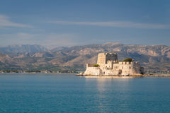 Small fort in the bay of Nafplio Stock Photography