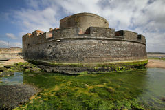 Small fort on the coast of English Channel. At Nord - Pas-de-Calais Stock Photos