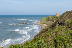 A small fort at the coast in Italy Stock Photo