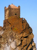 Small fortress on a lavic promontory Royalty Free Stock Image