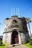Small fortress type building in the Town of Ribeira Brava in the north of the Island of Madeira Stock Photos